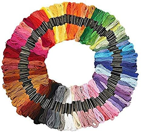 TM010 - Metallic Embroidery Thread School Supplies DIY Embroidery Cross Stitch CopperWhite Thread 50m