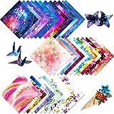 Papel para papiroflexia 150 hojas Papel de Origami,Diferentes patrones Papel Cuadrado Papel Plegable,Origami Para Niños Para Proyectos de Artes Bricolaje y Oficios,15 × 15 cm,Color Aleatorio