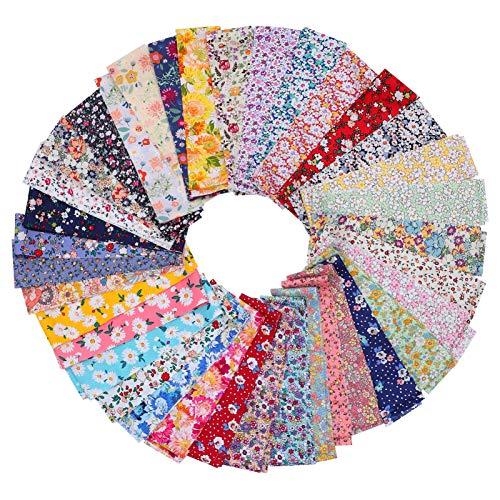 ARTIBETTER 36Pcs Jelly Roll Roll Up Tiras de Tecido de Algodão Quilting Quilting Algodão Tecido Floral Tecido para Colchas de Retalhos DIY Ofício 6. 25X100cm
