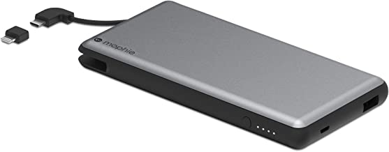 mophie powerstation External Battery with Built in Cables for Smartphones and Tablets, Space Grey, 4,000mAh (Renewed)