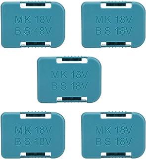 Sponsored Ad – 5pcs Battery Storage Rack Holder Case for Makita 18V Fasteners (Cyan)