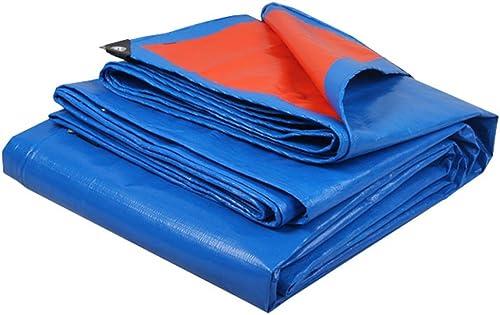 YFF-Bache LIYFF- 100% Imperméable et bche Résistante UV Prougeégée pour Camper, Pêcher, Jardinage, épaisseur 0.35mm, 180g m2 (Bleu)