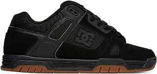DC Men's Stag Sneaker, Black/Gum, 8 D US