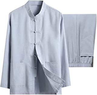 BFGDS Männer Baumwolle Leinen Tai Chi Set Chinesische Traditionelle Tang Anzug Kampfkunst Kleidung Hemden Hosen Tai Chi Ku...