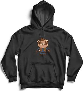 Sheriff Teddy Bear Western_006187 Hoodie Pullover Unisex Capucha Suéter Christmas X-mas Gift