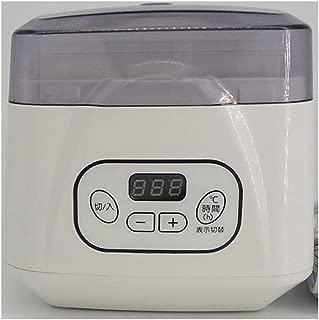 自動ヨーグルトマシン自動パワーオフ調節可能な温度時間ヨーグルトメーカープレミアムデジタルヨーグルトメーカーヨーグルト納豆ライスワインマシンヨーグルトジャー700ML、15W (版 : 110V)