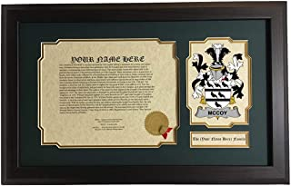McCoy - Coat of Arms and Last Name History, 14x22 Inches Matted and Framed
