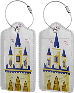Personal Expression Luggage Tag Business Card Holder,Geometric Fairytale House Fantasy,With Lifetime Never Lost Guarantee