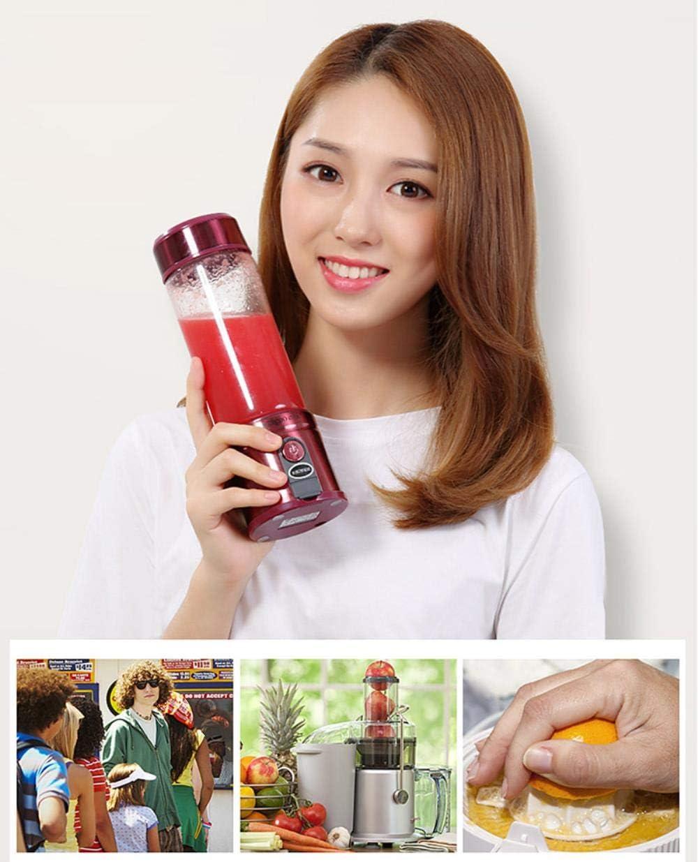 XUYI exprimidor eléctrico portátil Mini exprimidor de Viaje Recargable para el hogar Mini exprimidor exprimidor Taza, C C