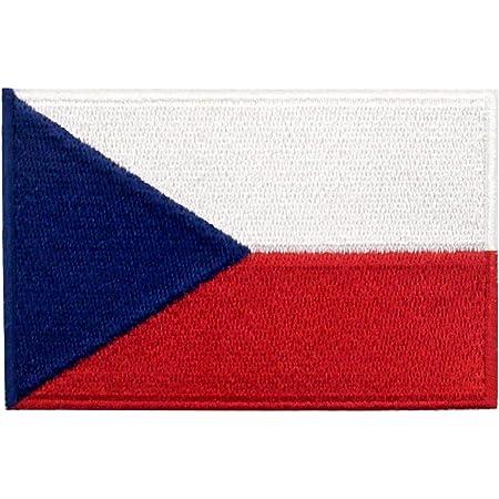Bandiera della Repubblica Ceca Termoadesiva Cucibile Ricamata Toppa