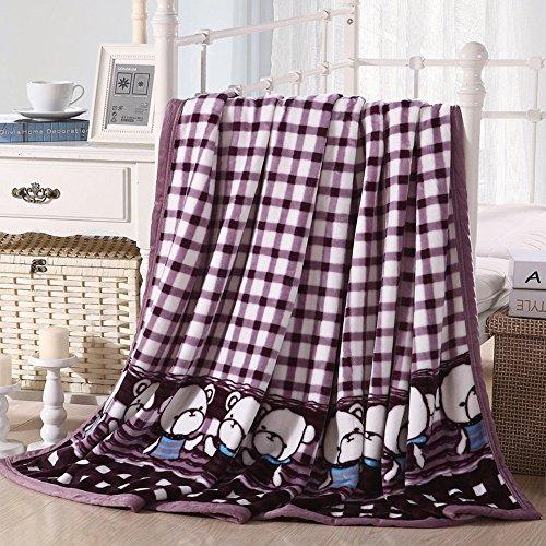Global- Moderne couverture de laine d'été Double serviette de flanelle épaisse molleton draps Blanket couvertures climatisation couverture (taille : 200 * 230cm)