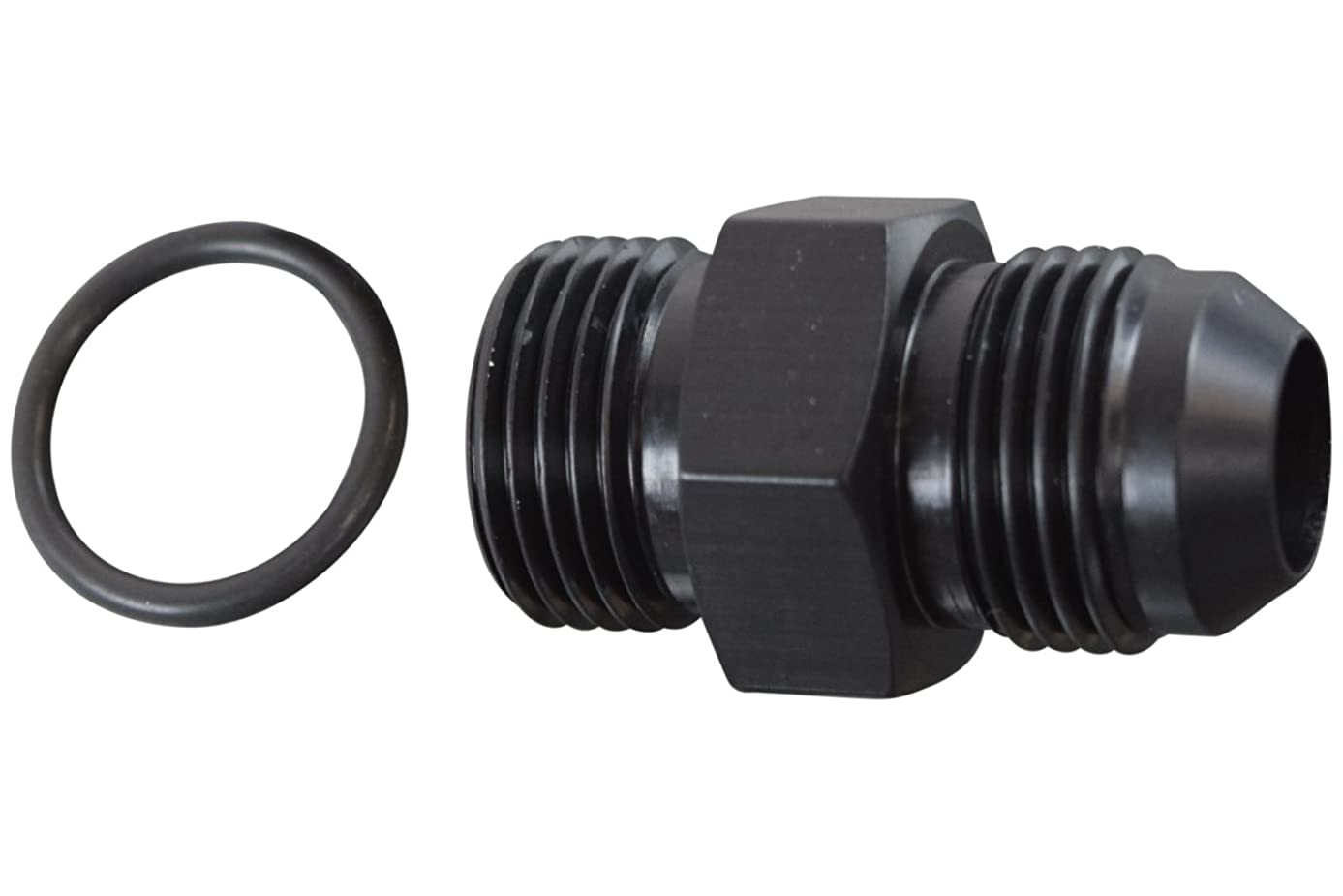 -10AN Flare to 10 Oring ORB Male Fuel Pump Rail Adapter Fitting Black F10AN100R