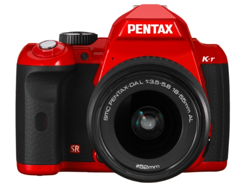 Pentax K-r–Cámara Digital SLR (12megapíxeles, Live View, Pantalla de 7,6cm (3), vídeo HD, Varilla de lisiert) Incluye dal 18a 55mm Lentes, Tarjeta SD de 8GB, de AF 200FG Flash Rojo