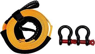 Create Idea Sangle de remorquage avec Sac de Rangement et Paire de Gants et Crochets 5 m