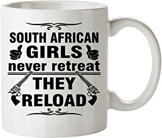 SOUTH AFRICAN Coffee Mug 11 Oz - Good Gifts for Girls - Unique Coffee Cup - Decor Decal Souvenirs Memorabilia