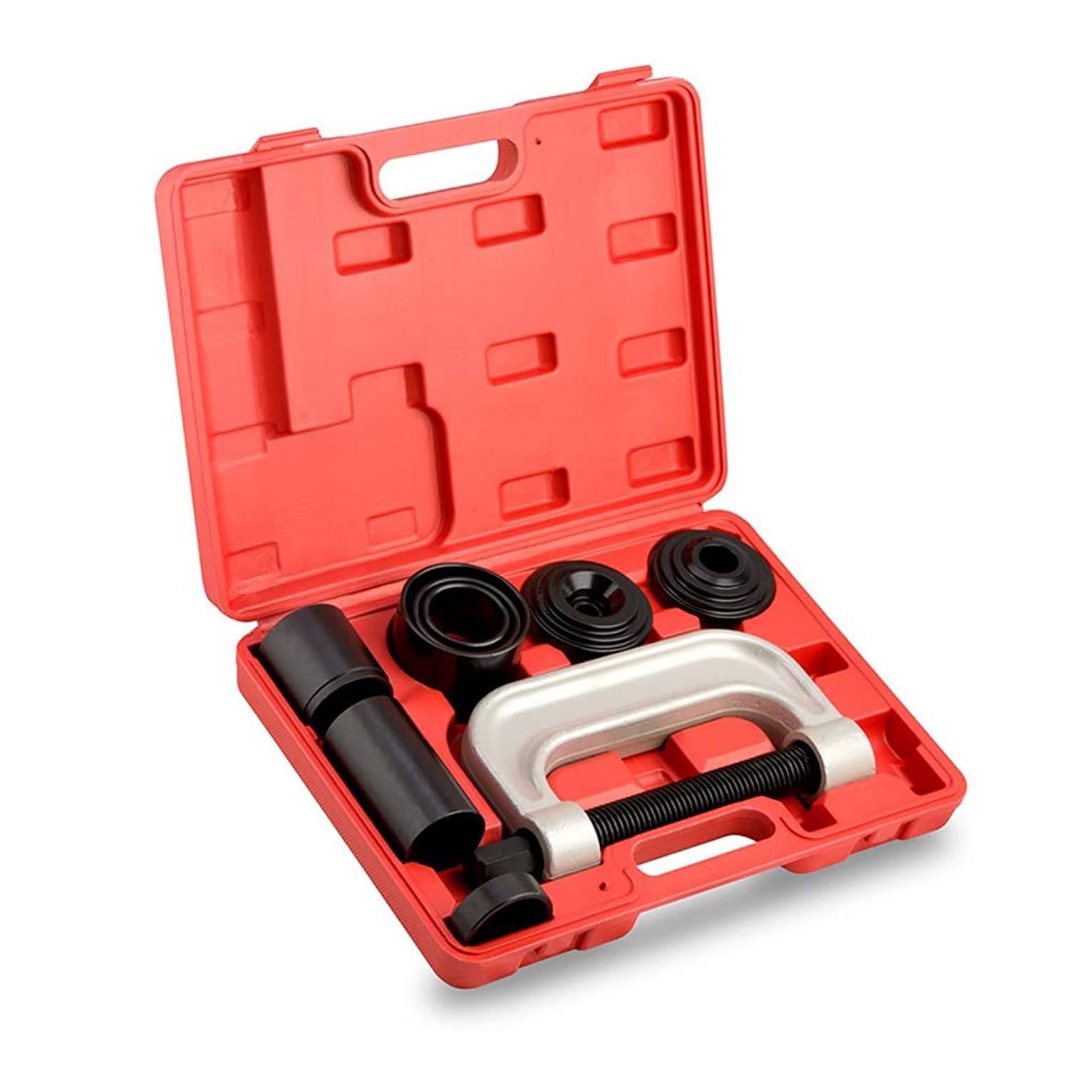 A ABIGAIL Ball Joint Press & U Joint Removal Tool Kit with 4-Wheel Drive Adapters for Most 2WD and 4WD Cars and Light Trucks - Ball Joint Service Tool Kit