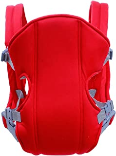Breathable Newborn Infant Baby Simple Toddler Cradle Pouch Sling Carrier Comfortable Baby Carrier Adjustable Shoulder Belt(Red)