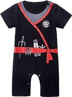Baby Boys' Short Sleeve Ninja Romper
