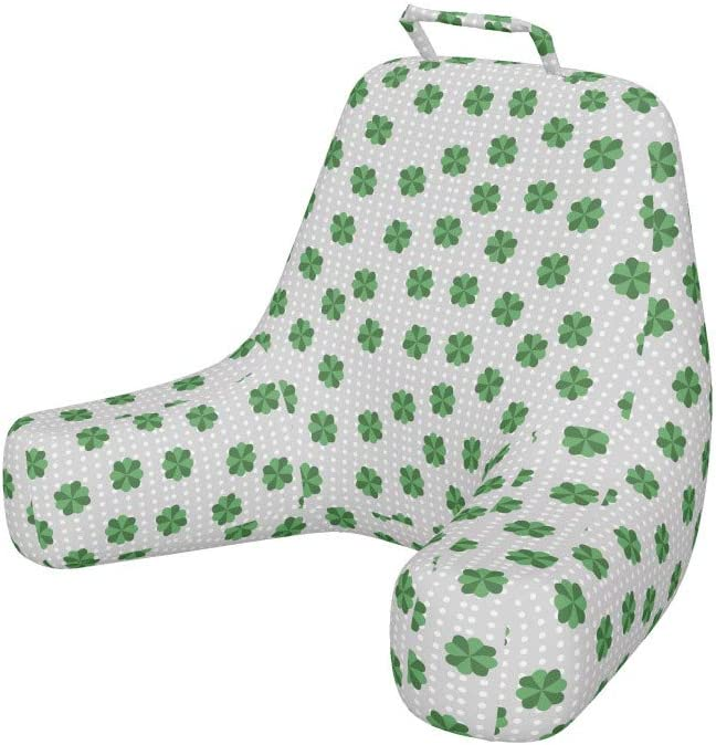 Ambesonne Free shipping on posting Indefinitely reviews St. Patrick's Day Bedrest Back Traditiona Pocket with