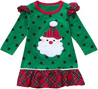 K-youth Vestidos para Niñas De Navidad Ropa para Bebe Niña Navidad Recién Nacido Vestido de Princesa Infantil Vestido de N...