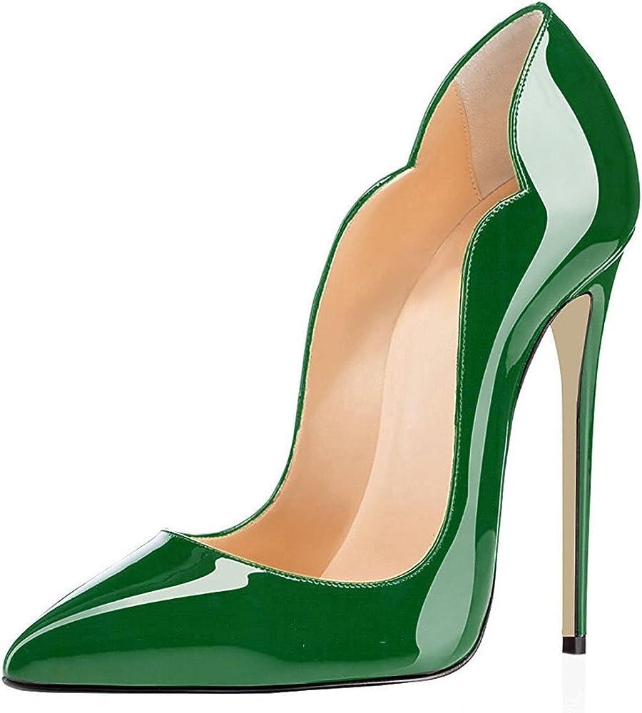 Edefs , scarpe col tacco a spillo per donna , in pelle sintetica EEIT033-12cm Leopard-A
