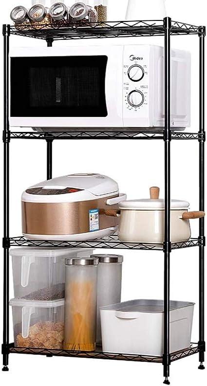 HUYYA estantería metálica Cocina Estar, Utilidad Estantería de ...
