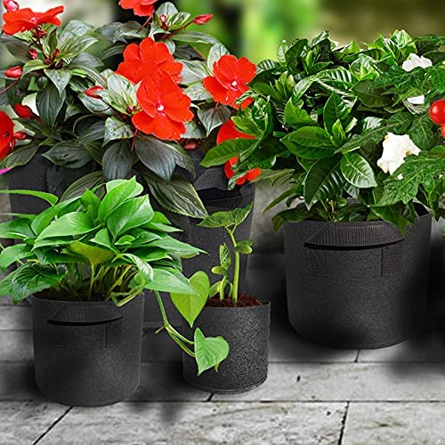 YIYIYI 5-Pack Heavy Duty Thickened Grow Japan Maker New Nonwoven Bag Ranking integrated 1st place Fabric Pots