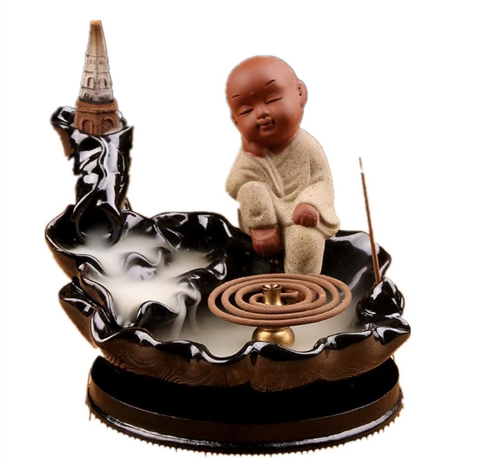 自治刺繍マナーXPPXPP Waterfall Incense Holder Chinese Ceramic Reflux Incense Burner With 10 Reflux Cones
