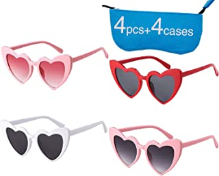 4abc48a65e33e Retro Vintage Clout Goggle Heart Sunglasses Cat Eye Mod Style for Women  Kurt Cobain Glasses Plastic