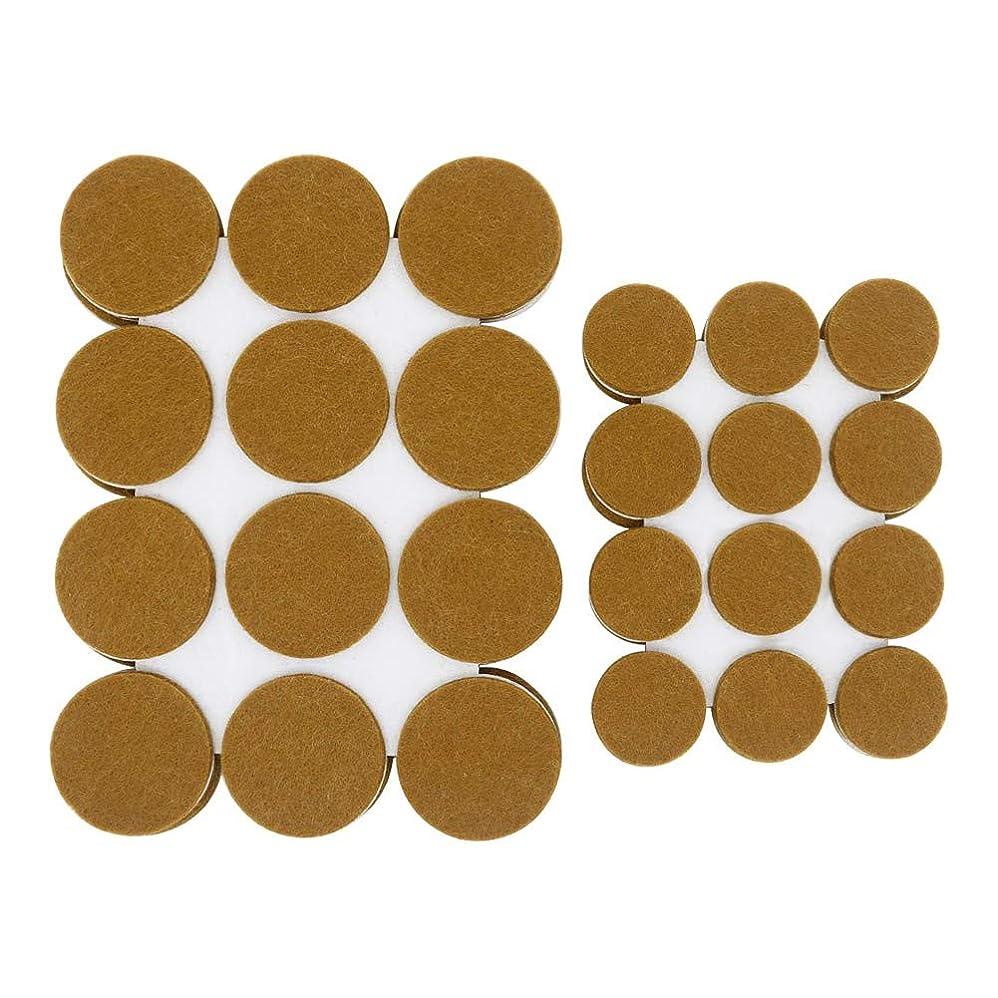 どこか自分のチェスをするAutra フェルトパット 直径 25mm 38mm 茶色 丸型 セルフ粘着 家具のキズ?衝撃音防止 72枚入