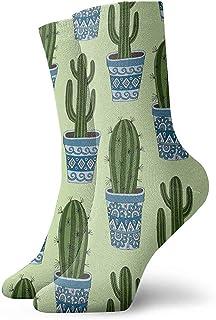 Dydan Tne, Cactus Plant Green Dress Calcetines Divertidos Crazy Socks Calcetines Casuales para niñas Niños