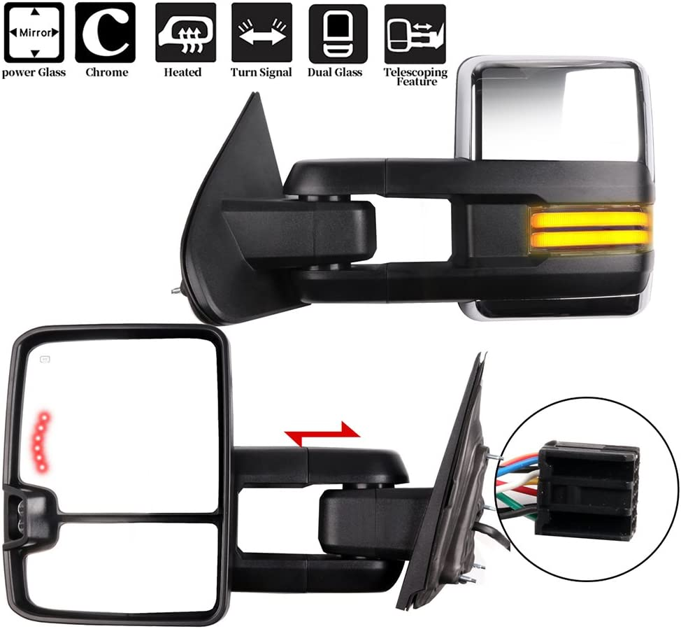 LSAILON Tow Mirrors Luxury goods Towing Fit Chevy Courier shipping free shipping GMC for 1 2014-2018
