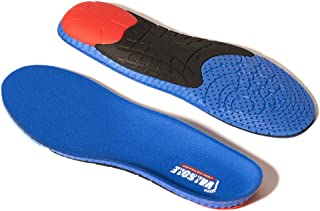 Valsole Sport Insoles for Plantar Fasciitis Women and Men Full Length Shoe Insert with Arch Support-Shock Absorption & Cushioning Insert for Flat Feet, Heel Spurs & Foot Pain (Blue, US 7-10 Men)