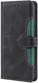 Retro Folio Flip läderfodral för Alcatel 1c 2019, kvinnors plånbok skydd magnetisk stängning korthållare ställ stöttålig e...