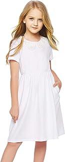 Arshiner Little Girl Long Sleeve Casual Cotton T-Shirt Dress