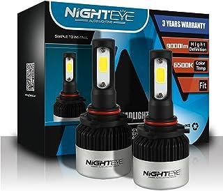 NIGHTEYE 9005 LED Headlight Bulbs,High Brightness 72W 9000Lumens 6500K Xenon White Extremely Bright COB LED Chipsets HB3 H...