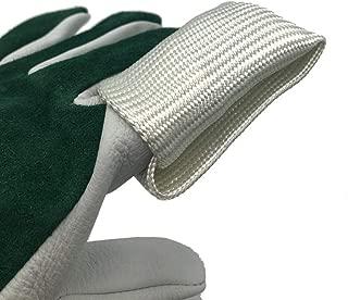 color blanco para soldadura de precisi/ón Tig Guantes de soldar costuras CE resistente a las llamas 355 mm piel de cabra