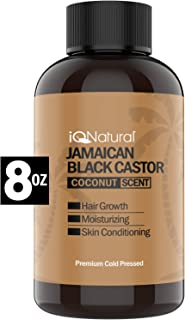 Jamaican Black Castor Oil for Hair Growth and Skin Conditioning - 100% Cold-Pressed 8oz by IQ Natural