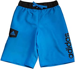 adidas Boys Swim Trunks Boardshorts (Small, Royal Blue Logo)