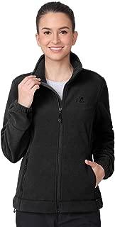Women Fleece Jackets with Pockets Soft Long Sleeve Full Zip Fleece Coat for Spring Outdoor