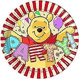 Unique Party 71631 - 20cm Disney Winnie the Pooh Party Plates, Pack of 8