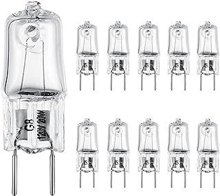 EKSAVE G8 20Watt 120Volt Halogen Light Bulbs G8 Base Bi-Pin Shorter 1-1/4