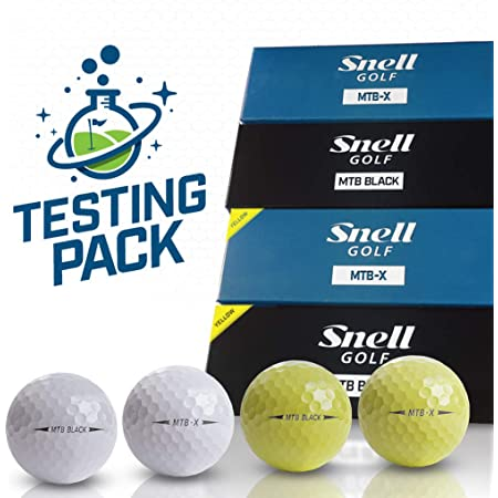 Snell Golf テスティングパック MTB BLACKとXのホワイト・イエローの4種類各1スリーブ、合計4スリーブ(12球)入り オリジナルフォーク付き 日本正規品スネルゴルフ 2019TP4