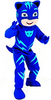 Blue PJ Mask Mascot Costume Catboy Party Adult Halloween Cosplay Connor Character
