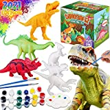 Dinonano Kids Crafts Dinosaur Painting Kit - Arts and Crafts Paint Your Own Dinosaur Toys Art Set Toddler Paint Activities Painting Boys Girls Ages 4 5 6 7 Years Old - DIY Projects Party Favor Gifts