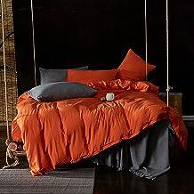 مجموعة أغطية السرير أغطية لحاف كامل الملكة حجم لحاف مجموعات غطاء لحاف من الكتان المغسول غطاء لحاف مزدوج الحجم الحجم بني غط...