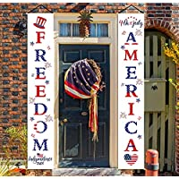 Whaline 4th of July Decoration Porch Sign Set