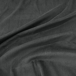 TOLKO 1m Mikro Cord Stoff | leichter Baumwoll Cordsamt | Bekleidungsstoff für Hosen Jacken Kleider Hemden | weiche Meterware 140cm breit | uni Baumwollstoffe Nähstoffe günstig kaufen Anthrazit
