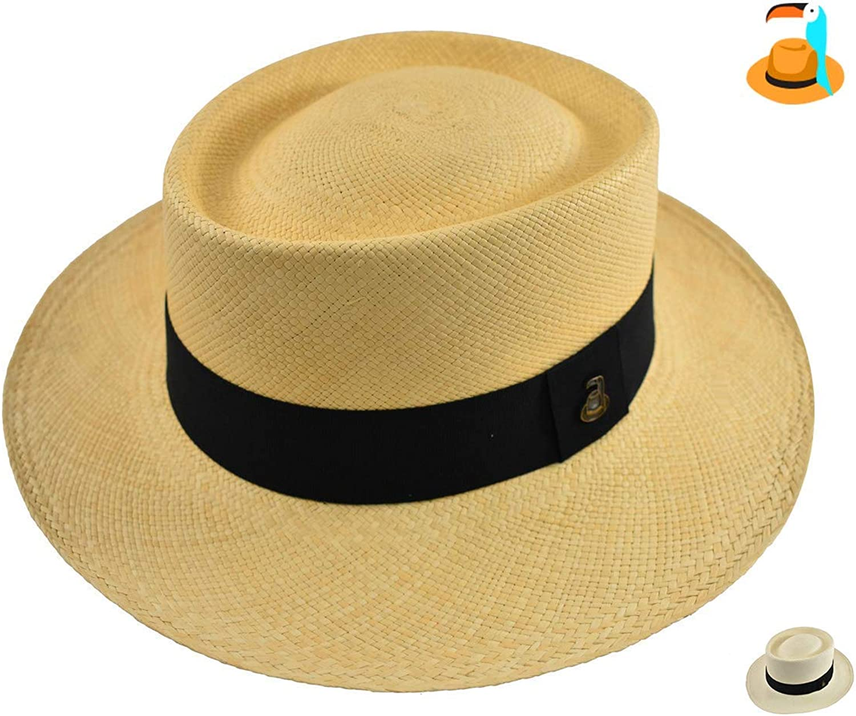 Original Panama Hat  Round Top Dumont  Toquilla Straw  Handwoven in Ecuador by EcuaAndino