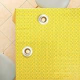 Gelb Wachstuchtischdecke Weiß Retro Blumendruck, Abwischbare PVC Wachstuch, Rechteckige 200 x 140 cm - Klassisch Ranken Blumen Wachstischdecke Pflegeleicht Vinyl-Kunststoff Tischdecke Wasserdichtes - 3